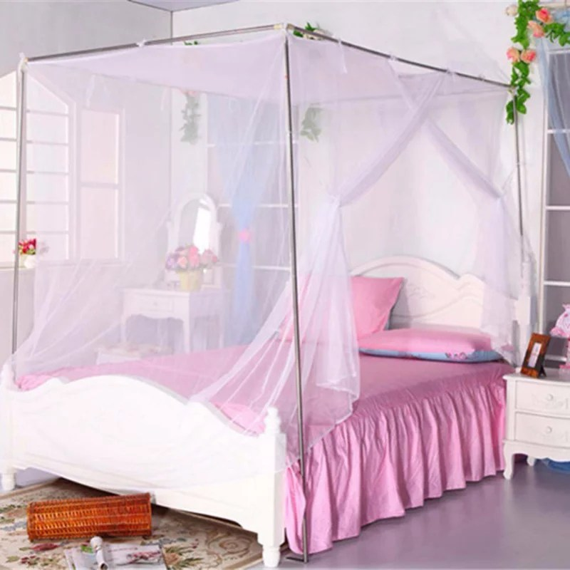 4 poster bed canopy functional mosquito insect netting fit twin twin full bunk bed full queen and king bed