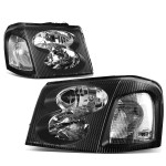 For 2002 To 2009 Gmc Envoy Headlight Black Housing Clear Corner Headlamp Stl Xl 03 04 05 06 07 08 Left Right Walmart Com Walmart Com