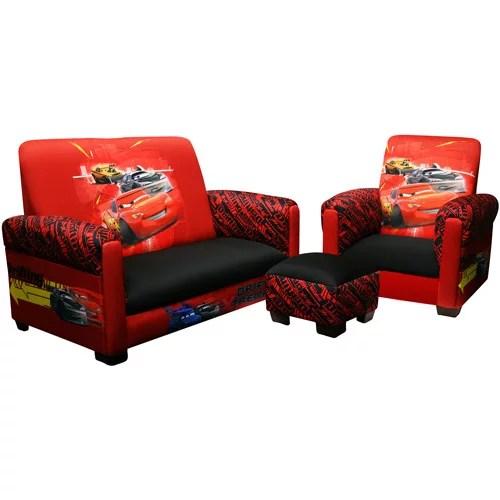 Disney  Cars Drift Toddler Sofa Chair and Ottoman Set  Walmartcom