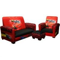 Disney - Cars Drift Toddler Sofa, Chair and Ottoman Set ...