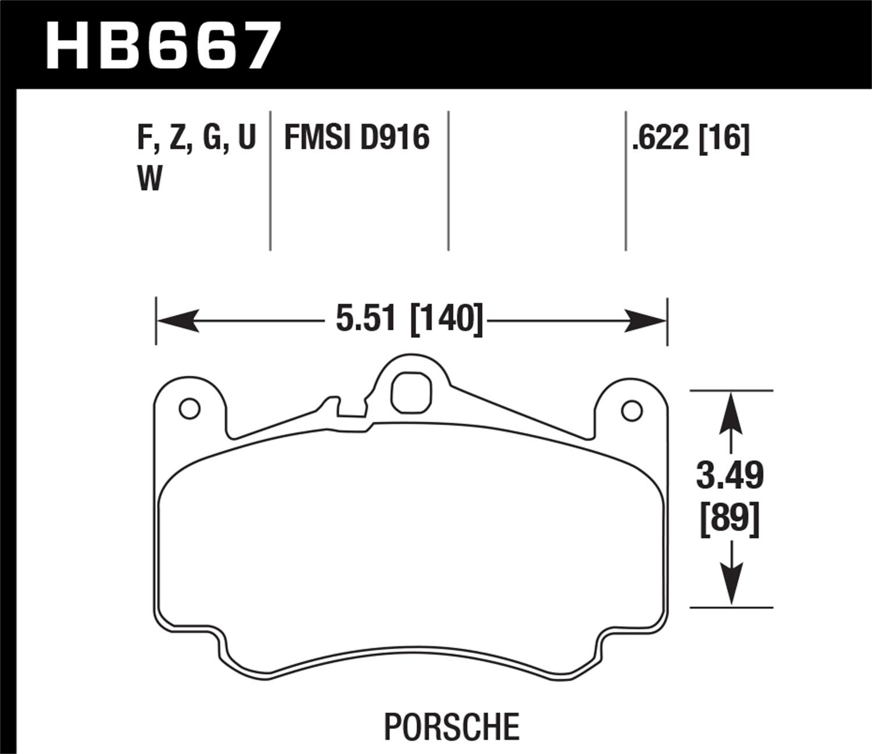 Hawk 02-05 Porsche 911 Carrera 4 Turbo Look/Carrera 4S