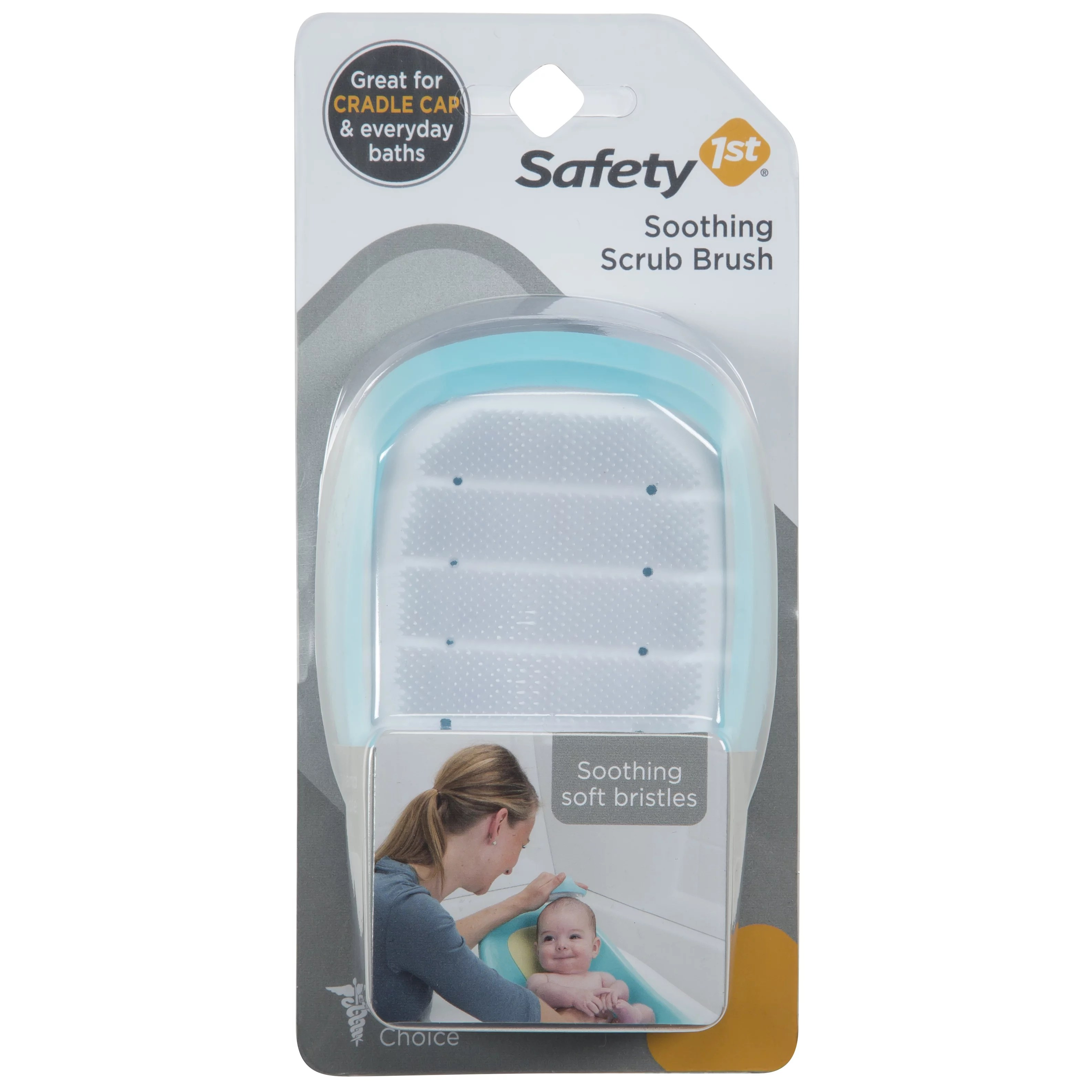 Safety 1st Soothing Cradle Cap Soft Bristle Brush Arctic ...