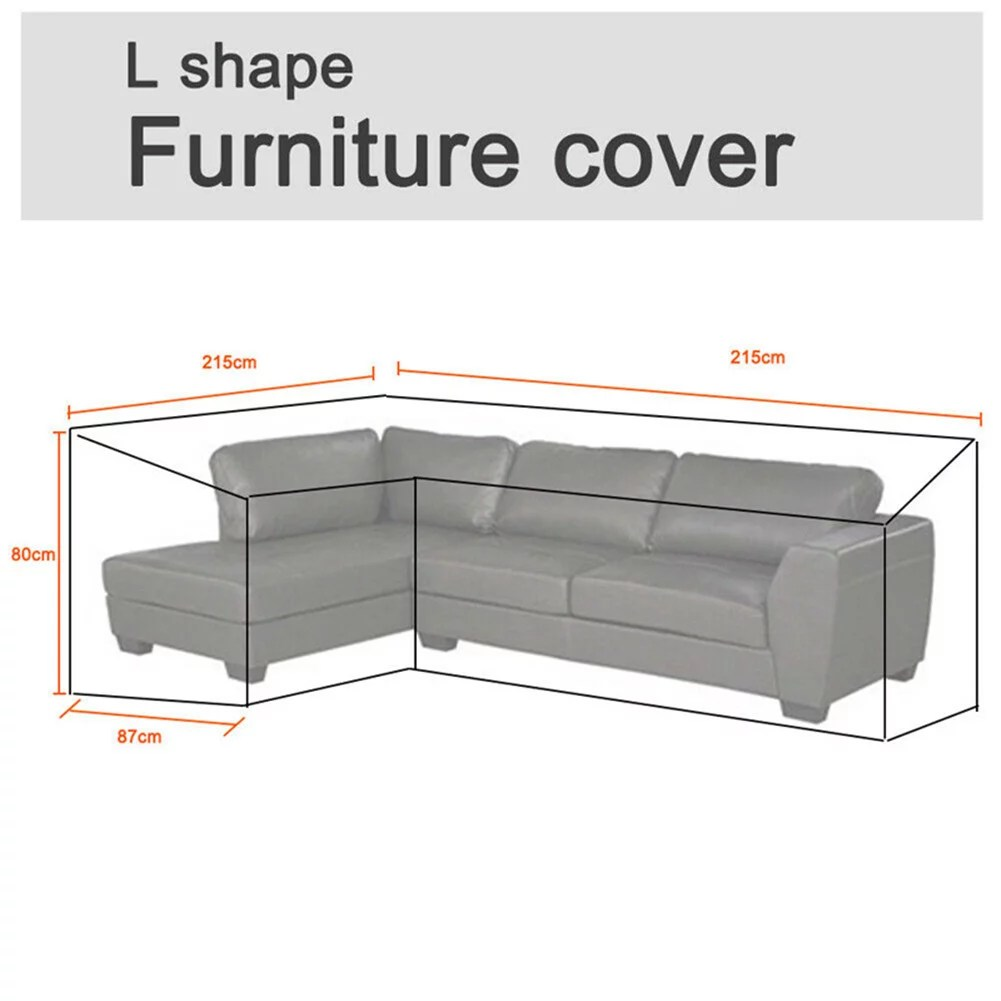 outdoor garden furniture cover extra large patio furniture cover for rattan wicker furniture sofa set waterproof l shape 85 x85 x34