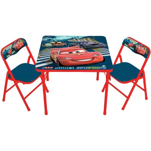 Disney Cars 2 Activity Table and 2 Chairs Set  Walmartcom