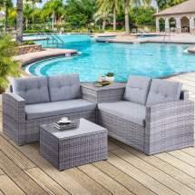 wicker patio sets 4