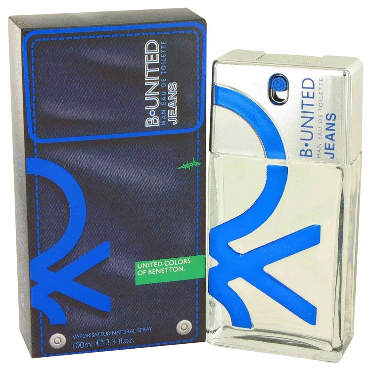 Benetton B United Jeans Eau De Toilette Spray for Men 3.3 oz