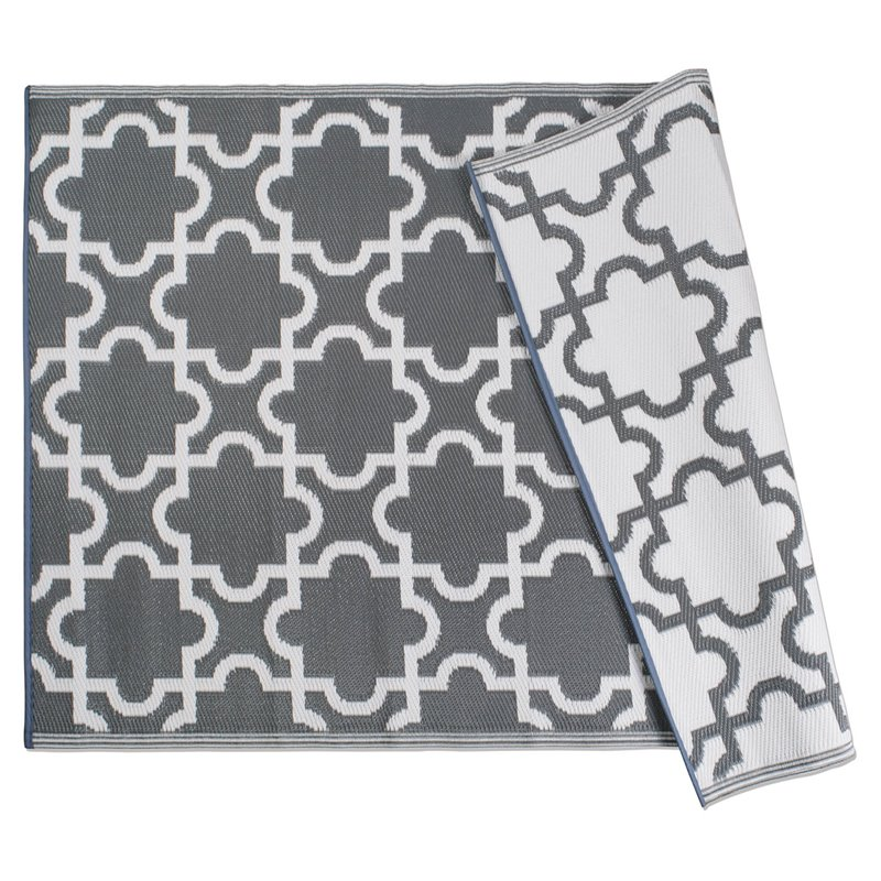 dii gray lattice outdoor rug