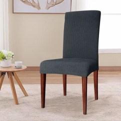 Dining Chair Slipcover Swivel Gas Lift Winston Porter Elegant Knitting Box Cushion Walmart Com