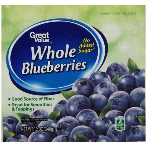 walmart kitchen appliances mini island great value frozen blueberries, 12 oz - walmart.com
