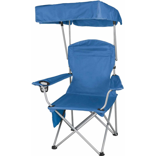 camping chairs with canopy best chair covers for wedding ozark trail quad folding shade camp walmart com