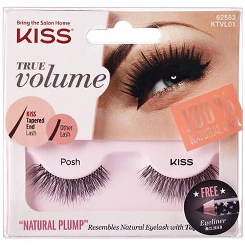 Kiss True Volume Natural Plump Eyelashes Posh  Walmartcom