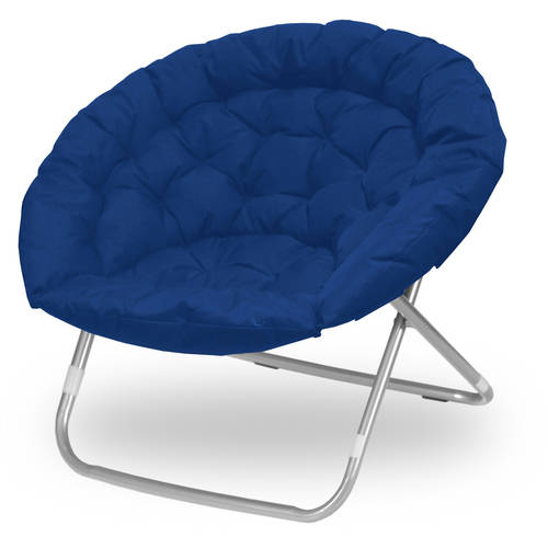 adult saucer chair vinyl dining chairs plush oversized moon chair, available in multiple colors - walmart.com