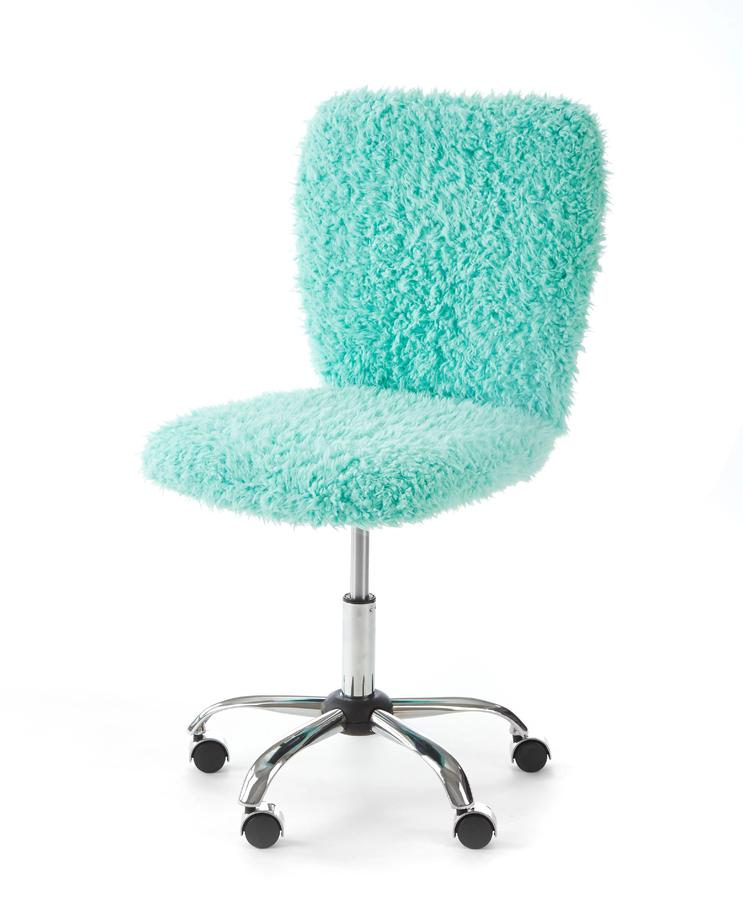 turquoise office chair recliner covers adelaide urban shop faux fur armless swivel task multiple colors walmart com