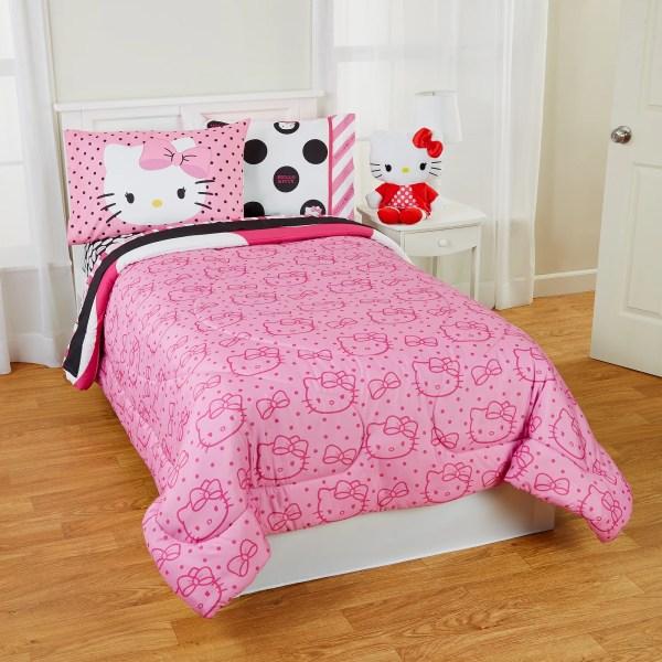 Kitty Dots Beautiful Twin & Full Reversible Bedding Comforter Set 1