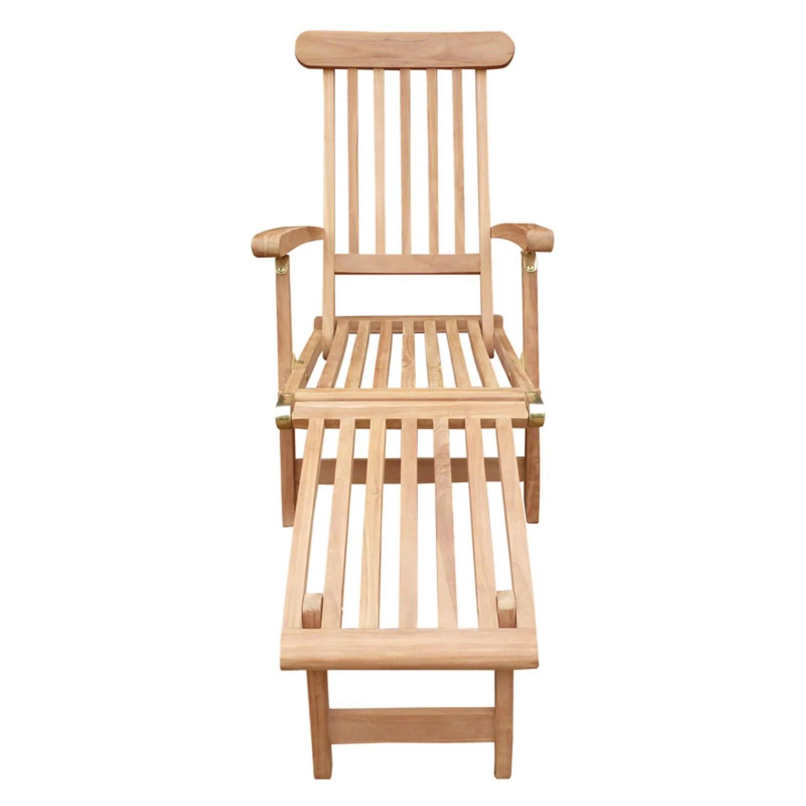 teak steamer chair how much to rent a barber seven seas outdoor walmart