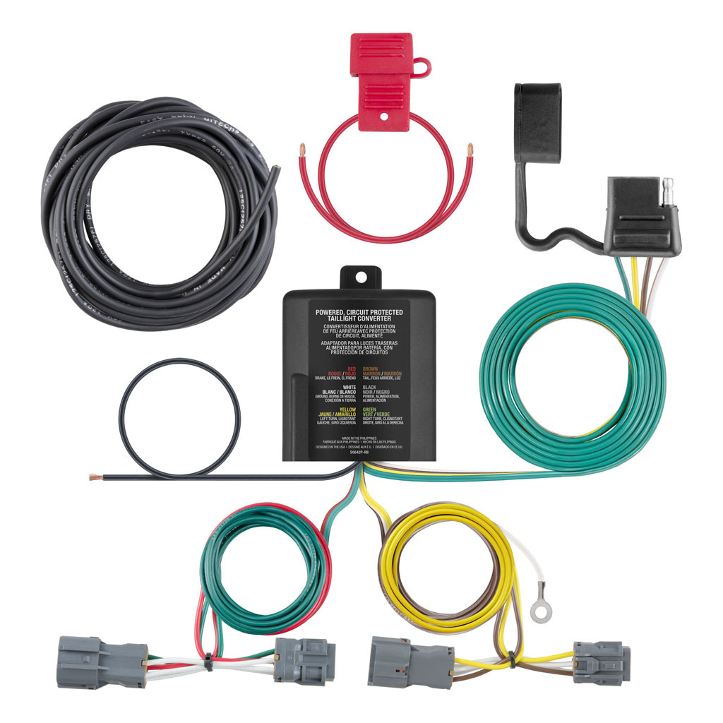 hight resolution of curt hitch 56347 trailer wiring connector 4 way flat replacement for oem wiring harness walmart canada