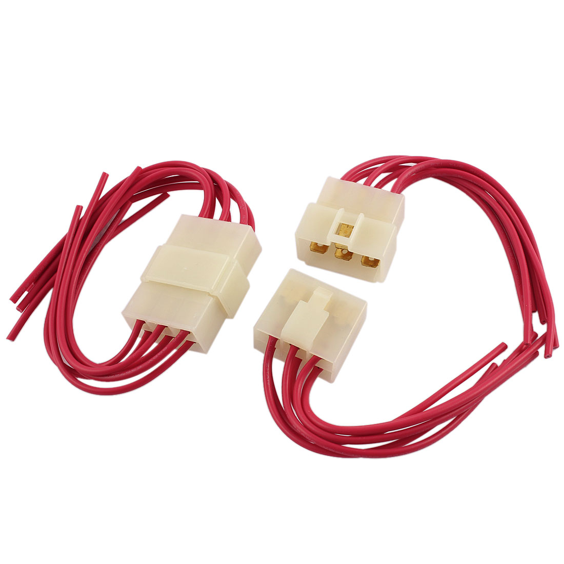 small resolution of 2 pcs car audio radio stereo wiring harness 6 pin wire adapter connectors