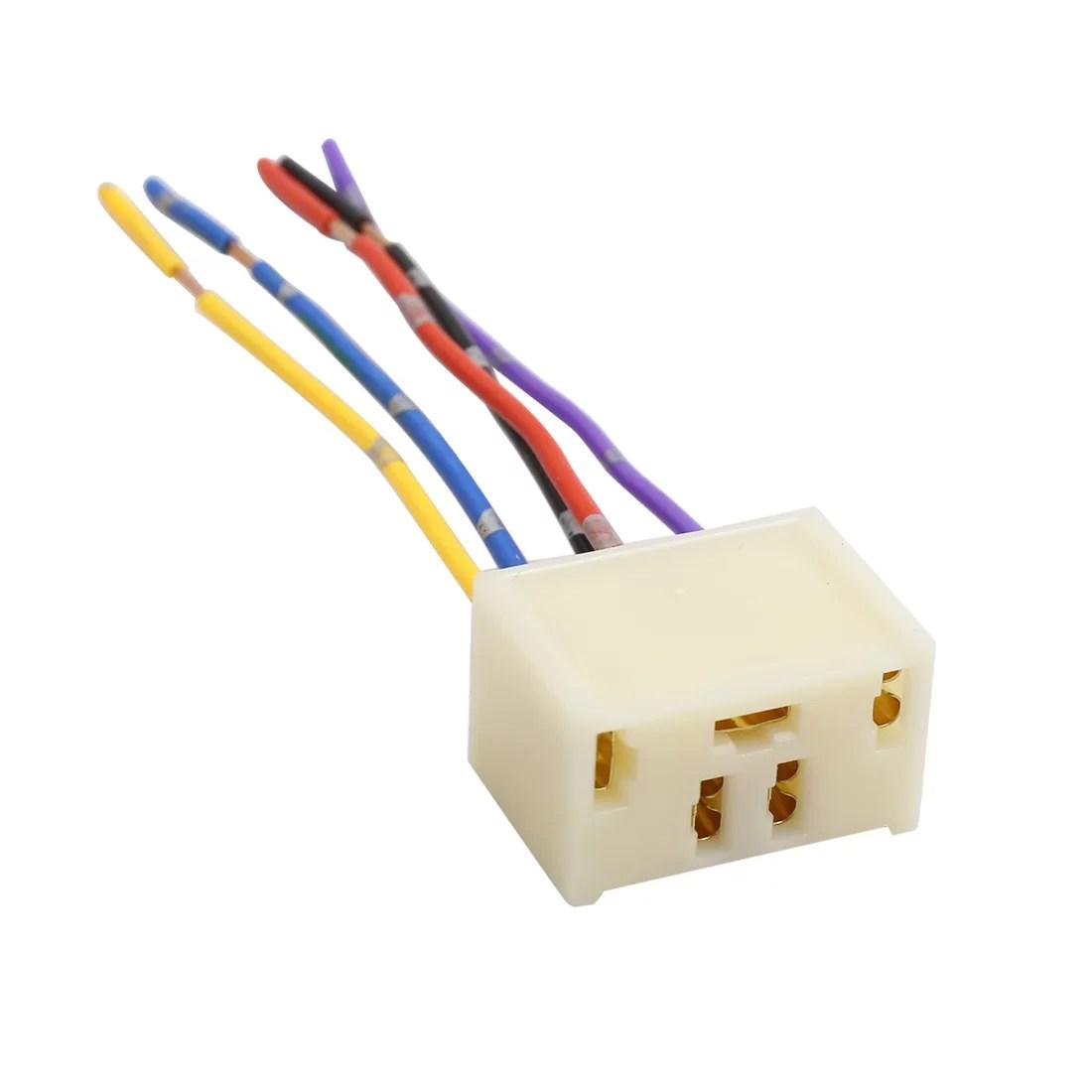4pcs dc 12v 5 pin car power window switch socket wiring harness plug 3 wire harness repair window [ 1100 x 1100 Pixel ]
