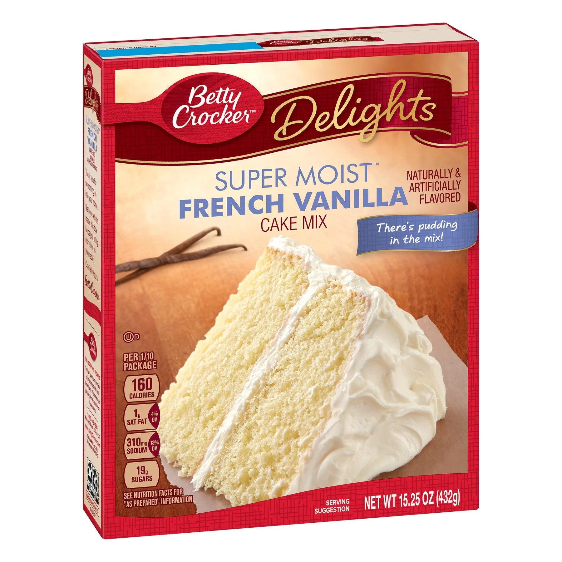 Betty Crocker Super Moist French Vanilla Cake Mix 15 25