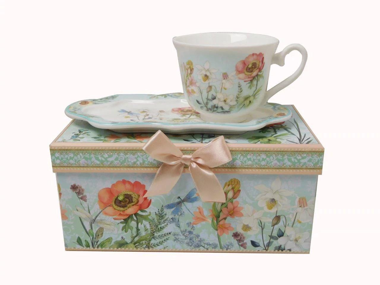 Lightahead New Bone China Unique 8 5oz Tea Coffee Cup