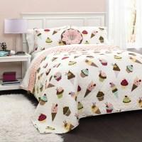 Cupcake Ice Cream Bedding Quilt Set - Walmart.com