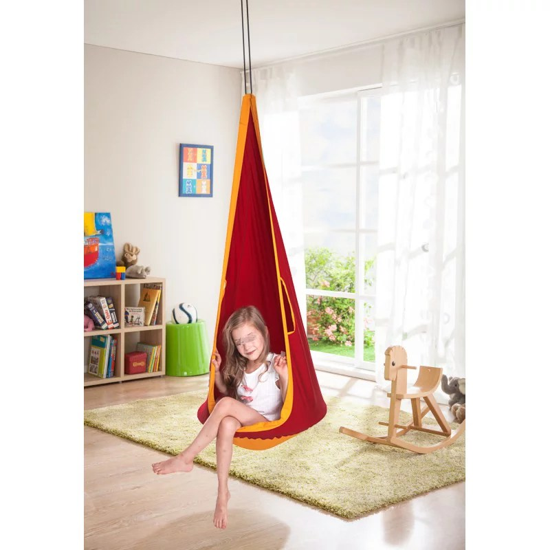 swing chair baby age outdoor wrought iron cushions 1 5m children kid pod hanging seat yard hammock indoor walmart com