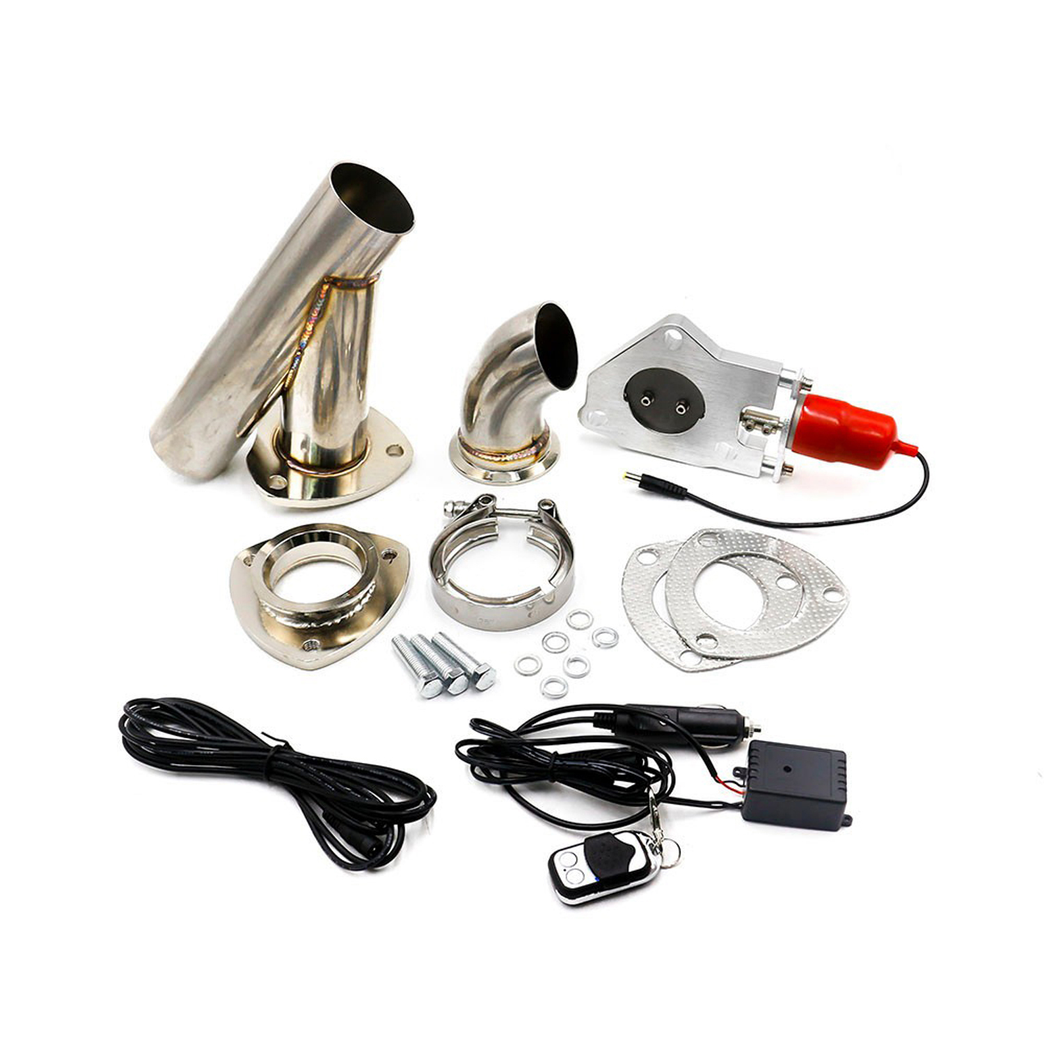 universal car 2 or 2 25 or 2 5 or 3 electric stainless exhaust cutout cut out dump valve switch with remote control