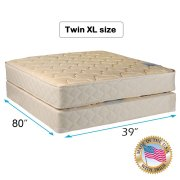 Chiro Premier Medium Firm Beige Color Twin Xl Size 39 X80 X9 Mattress And Box Spring Set Fully Assembled Good For Your Back Superior Quality