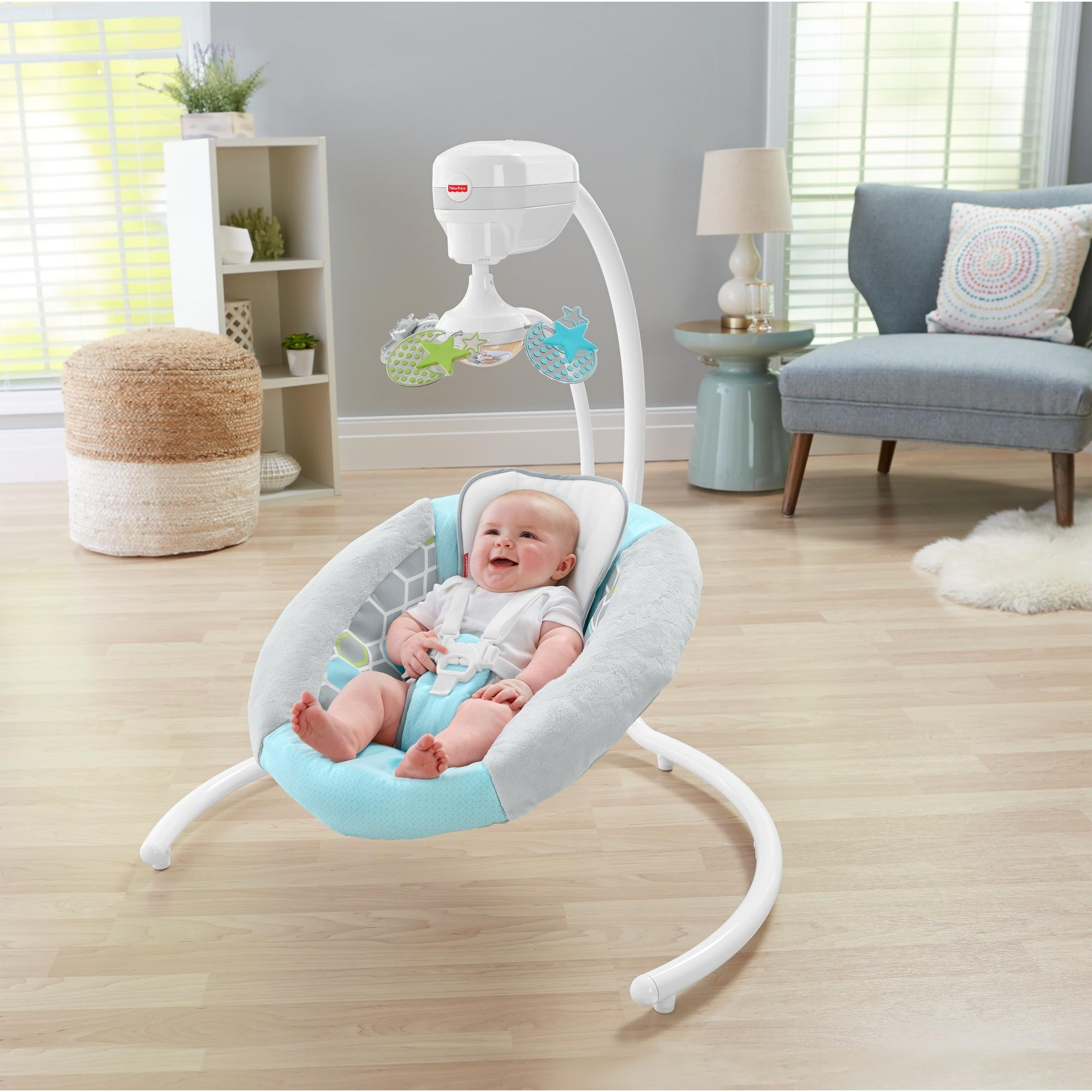 revolving chair for baby adjustable chairs without wheels fisher price revolve swing walmart com