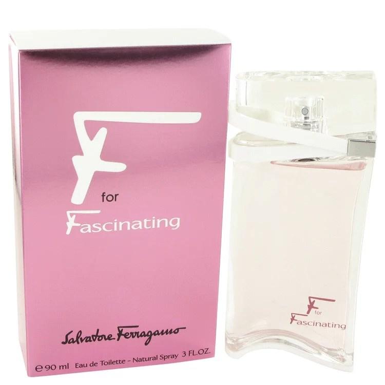 Salvatore Ferragamo F for Fascinating Eau De Toilette Spray for Women 3 oz