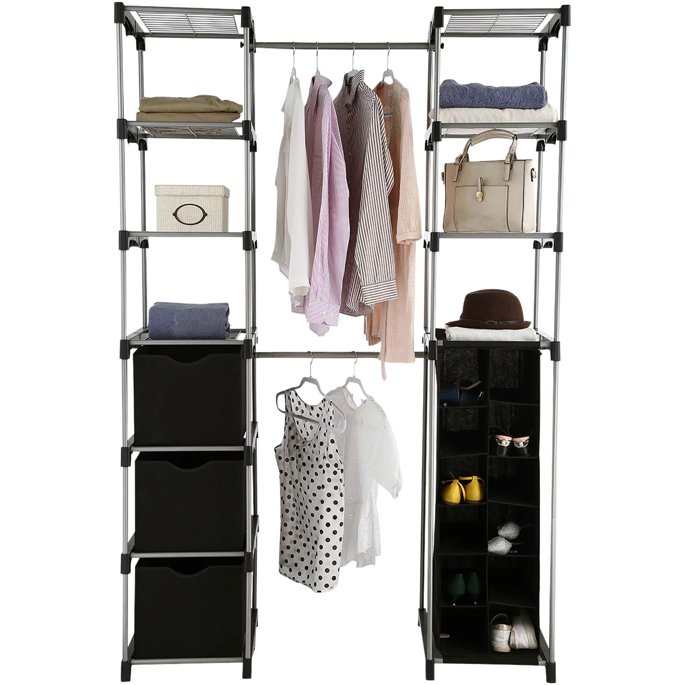 Mainstays Closet Organizer 2 Tower 9 Shelves Easy To