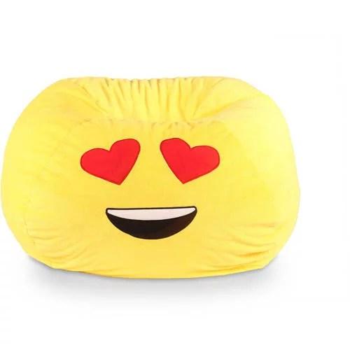 intex sofa inflatable outdoor metal corner emoji emoticon bean bag soft chair comfortable seat ...