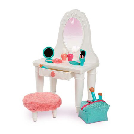 my life as vanity and accessories play set for play with most 18 inch dolls