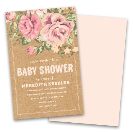 Personalized Vintage Fl Baby Shower Invitations