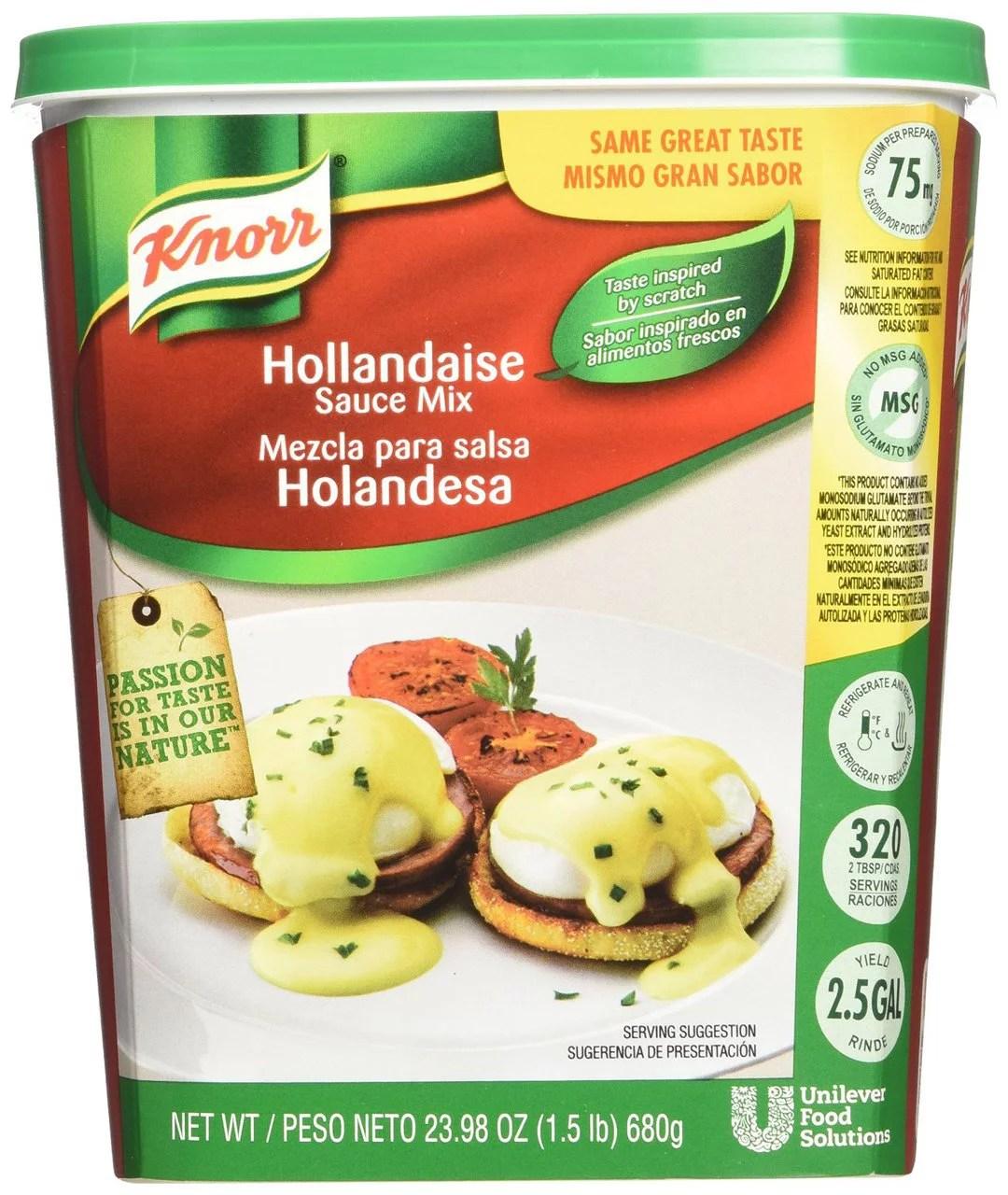 4 PACKS Knorr Hollandaise Sauce Mix 15 Pound Walmartcom