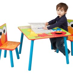 Elmo Table And Chairs Orange Kitchen Chair Cushions Delta Children Set Sesame Street Walmart Com