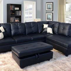 3 Piece Microfiber Sectional Sofa With Chaise Latest L Shaped Designs 2017 Faux Leather Contemporary Right Facing