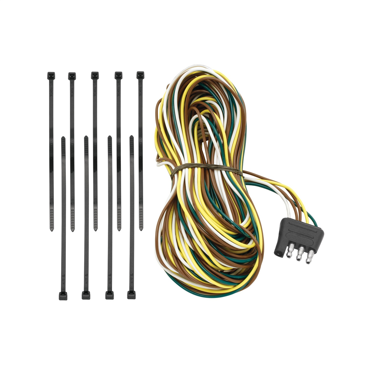 hight resolution of 4 flat trailer end connector dual tail light wires 25 long replacement auto part easy to install walmart com