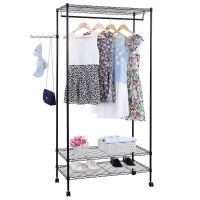 Ktaxon Sturdy Shelving Garment Rack Rolling Clothes Rack ...