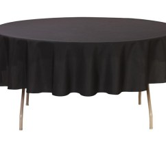 Your Chair Covers Inc Reviews Wood Dining Table With White Chairs Round Tablecloths Walmart Com Product Image 90 Inch Polyester Tablecloth Black