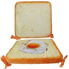 Fried Egg Chair Rocking Woodworking Plan Smiling Juju Cute Yellow Bread Designed Office Squared Seat Breathable Cushion Backrest D Walmart Com
