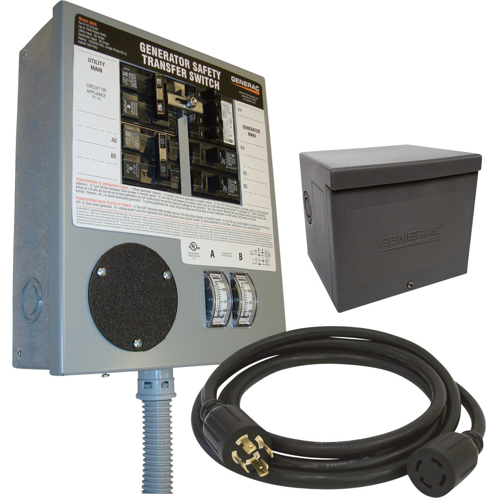 medium resolution of generator transfer switch kit 30 amp 6 10 circuits pre wired ob walmart com