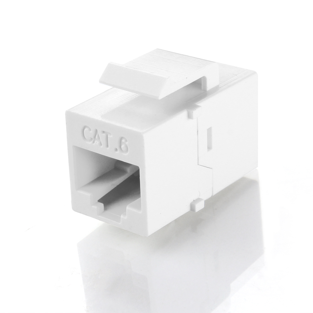 medium resolution of rj45 keystone cat6 cat5e cat5 compatible 8p8c ethernet network jack insert snap in adapter connector port inline coupler for wall plate outlet panel