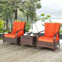 costway 3pcs outdoor patio mix
