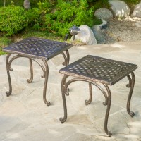 Rushmore Cast Outdoor End Table (Set of 2) - Walmart.com