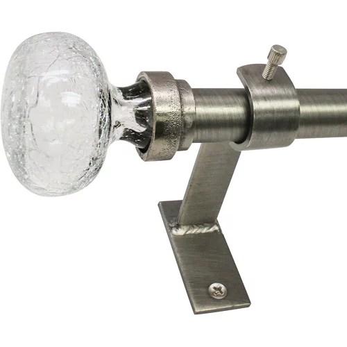 north branch 3 4 diameter crackle glass knob telescoping curtain rod set