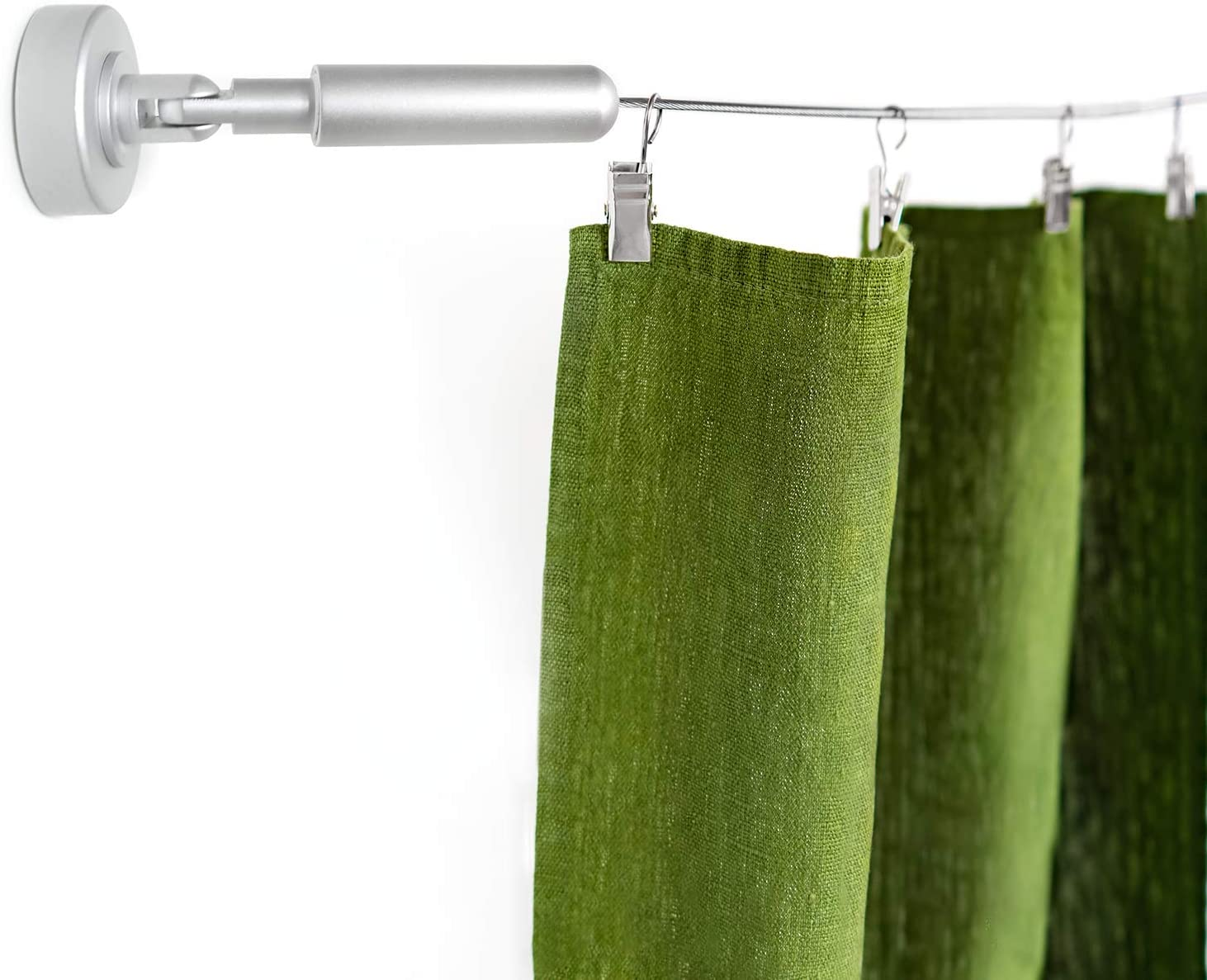 wire curtain hanging system with clips room divider wire curtain hanger rod willow and eva walmart com