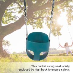 Swing Chair Game Best High Alternative Eecoo Fully Assembled Back Full Bucket Toddler Seat Green Home Walmart Com