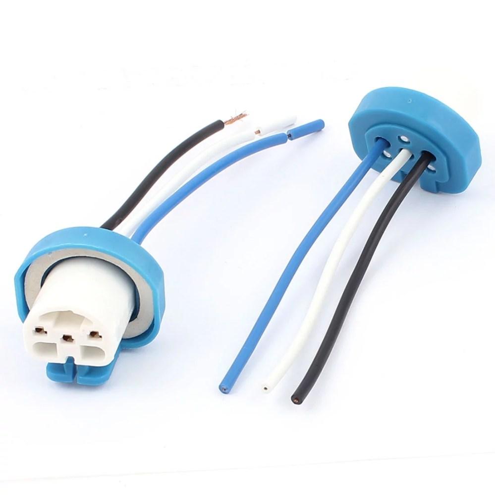 medium resolution of car headlight bulb 9004 socket wiring wire harness connector adapter 2pcs walmart com