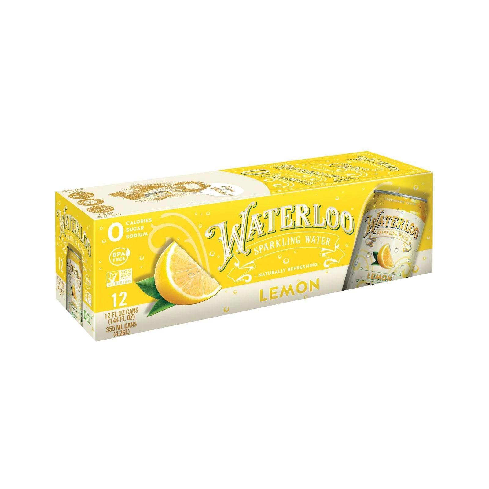 Waterloo Sparkling Water Lemon Case Of 1 12 12 Fl Oz